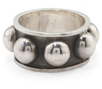 Men's Made In Mexico Sterling Silver Beaded Ring