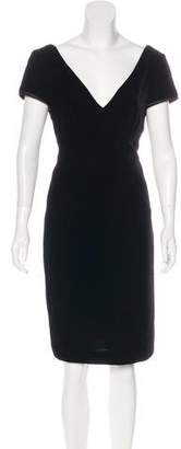 Armani Collezioni Velvet Knee-Length Dress