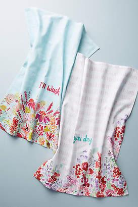 Rebecca Prinn I'll Wash, You Dry Dish Towels, Set of Two