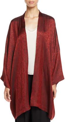 eskandar Open-Front Jacquard Jacket
