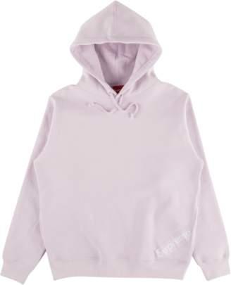 Supreme Corner Label Hooded Sweatshirt - 'SS 18' - Light Purple