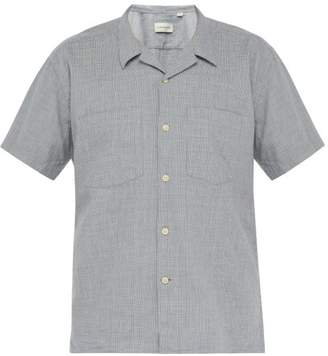 Oliver Spencer Havana Short Sleeved Checked Cotton Shirt - Mens - Blue