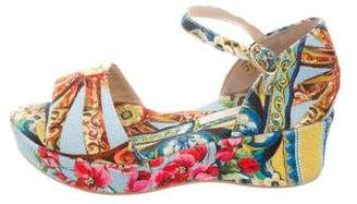 Dolce & Gabbana Girls' Sicilian Cart Platform Wedges