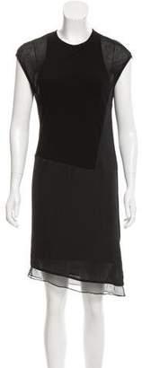 Helmut Lang Silk-Accented Sleeveless Dress