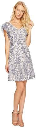 Jessica Simpson Flutter Sleeve Lace Dress Women's Dress