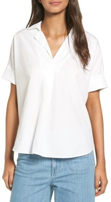 Women's Madewell Courier Cotton Shirt $65 thestylecure.com