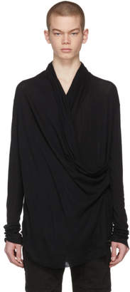 Balmain Black Cowl Neck T-Shirt