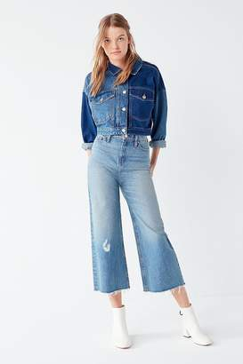 BDG Cropped Denim Culotte - Distressed