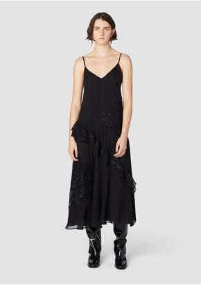 Derek Lam 10 Crosby Ruffled Lace Slip Dress