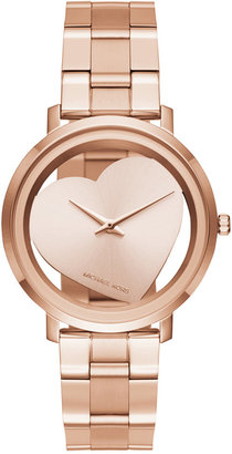 Michael Kors Women's Jaryn Rose Gold-Tone Stainless Steel Bracelet Watch 38mm MK3622 $225 thestylecure.com