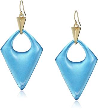 Alexis Bittar Pointed Pyramid Horizon Blue Drop Earrings