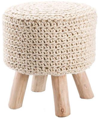 Macy's Jaipur Living Montana Knitted Cream Stool