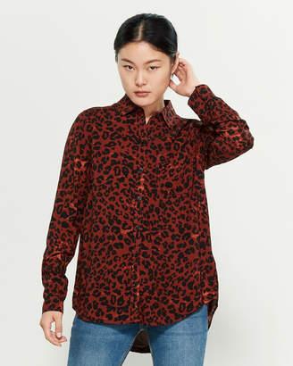 BeachLunchLounge Beach Lunch Lounge Rumba Red Long Sleeve Big Cheetah Print Shirt