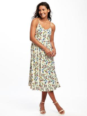 Fit & Flare Cami Midi Dress for Women $36.94 thestylecure.com