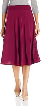 Lark & Ro Women's Solid Middy Skirt