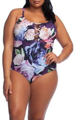 La Blanca Plus Size Bloom One-Piece Swimsuit