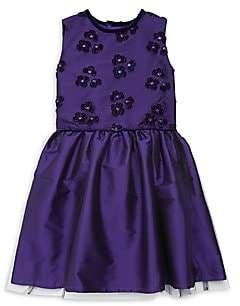 Isabel Garreton Little Girl's Embroidery Tafeta Dress
