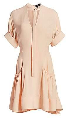 Proenza Schouler Women's Gathered Crepe Dress