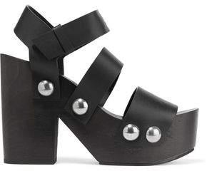 Alexander Wang Tess Leather Platform Sandals