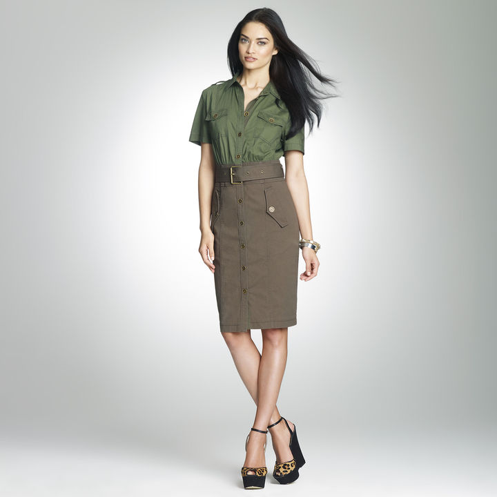 Jones New York Cotton Safari Dress