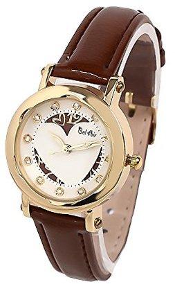 Bel Air 【ベルエア】 腕時計 レディース ウォッチ ラインストーン ハート アナログ ラウンドケース OSD88