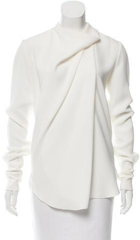 CelineCéline Draped Long Sleeve Blouse