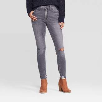Universal Thread Women's Destructed High-Rise Skinny Jeans - Universal ThreadTM Gray
