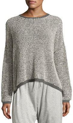 Eileen Fisher Boxy Boucle Pullover Sweater $238 thestylecure.com