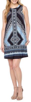 Byer California Sleeveless Diamond Shift Dress-Petite