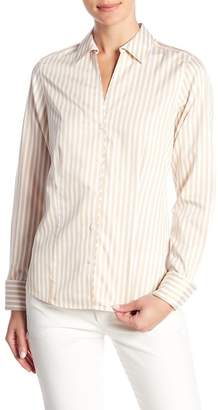 Foxcroft Sateen Striped Shirt