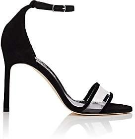 Manolo Blahnik Women's Lavanasa Suede & PVC Sandals-Black