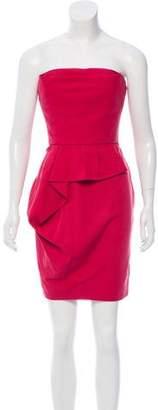 Lela Rose Strapless Mini Dress