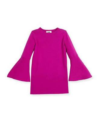 Milly Minis Bell-Sleeve Shift Dress, Size 4-7