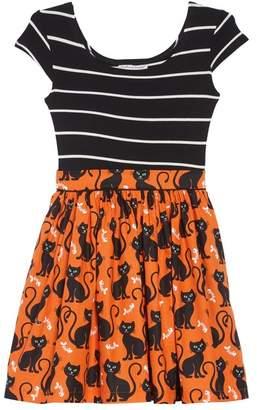 Fiveloaves Twofish Maddie Mixed Media Dress (Toddler Girls & Little Girls)