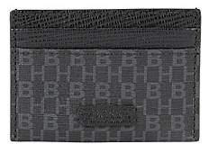 HUGO BOSS Card holder in coated Italian fabric