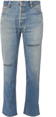 RE/DONE High-Rise Ripped Ankle Crop Jeans