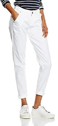 Silver Jeans Women's Gwen Chino Trousers, Weiß (White), (Herstellergröße: 27)