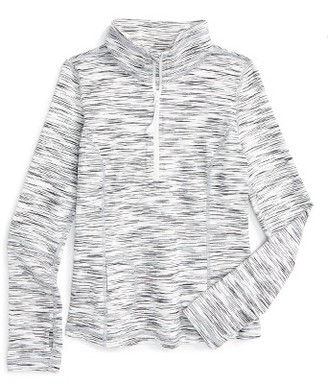 Girl's Zella Girl Base Camp Quarter Zip Pullover $46 thestylecure.com
