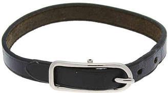 Hermes Vintage Luxury Leather & Metal Bracelet - Women's