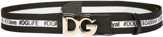 Dolce & Gabbana Logo Band And Buckle Belt
