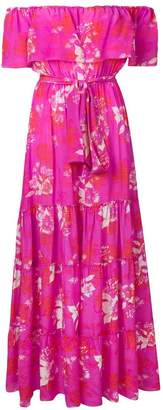 Athena Procopiou floral off-shoulder maxi dress
