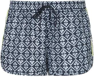 The Upside geometric print running shorts