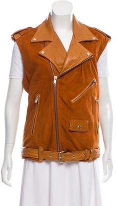 BLK DNM Leather Oversize Vest