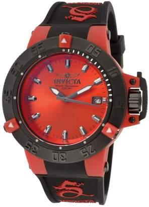 Invicta Women's 10130 Subaqua Noma III Red Dial Black Polyurethane Watch
