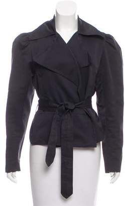 Behnaz Sarafpour Silk Notched-Lapel Jacket