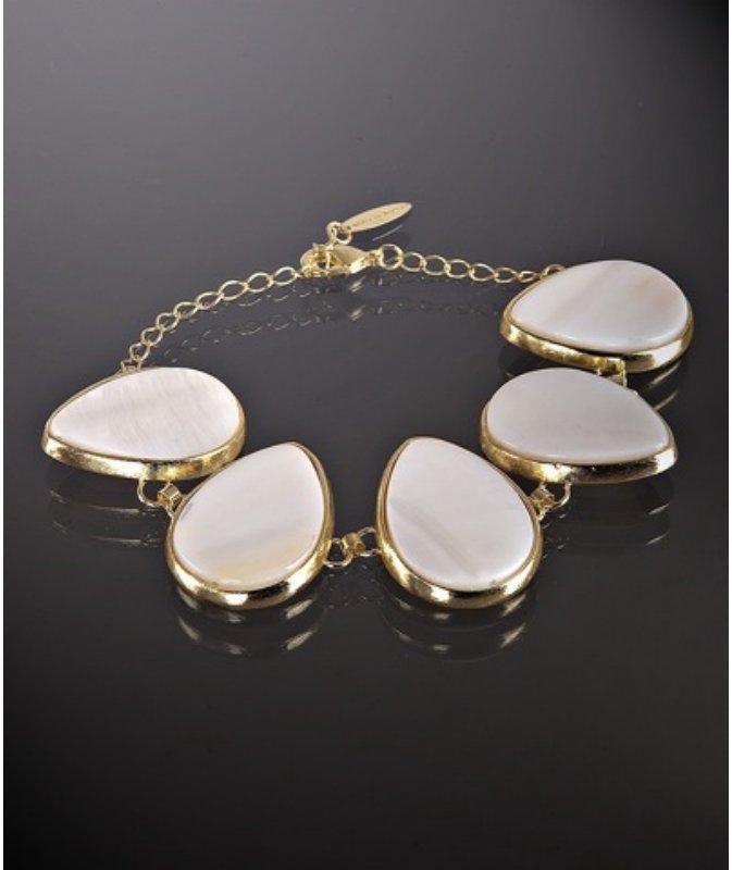 Marcia Moran mother of pearl link bracelet