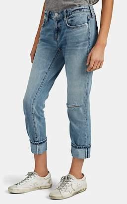 Current/Elliott Women's The Fling Slim Boyfriend Jeans - Blue