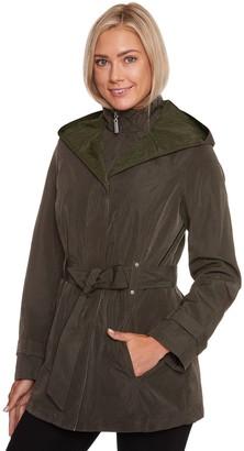 Women's Wildflower Hooded Belted Rain Jacket