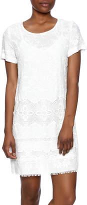Fifteen-Twenty Fifteen Twenty Embroidered Crepe Dress