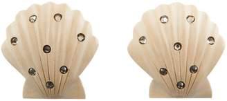 Rebecca De Ravenel Ariel White Shell Earrings with Stones